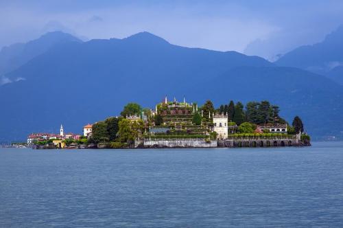 Island in Lake Maggiore, Italy