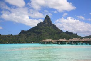 The shades of blue in Campsite Tahiti