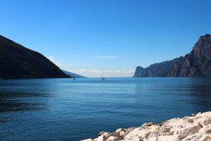 The calmness of Lake Garda