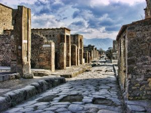 The history in Pompeii