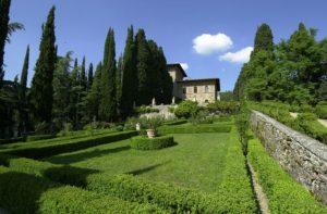 Green lush of Villa Peyron, Fiesole